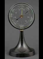 C.P. Goertz, Berlin D.R.G.M. barometer. German text. Height 17 cm, diameter 8,5 cm.