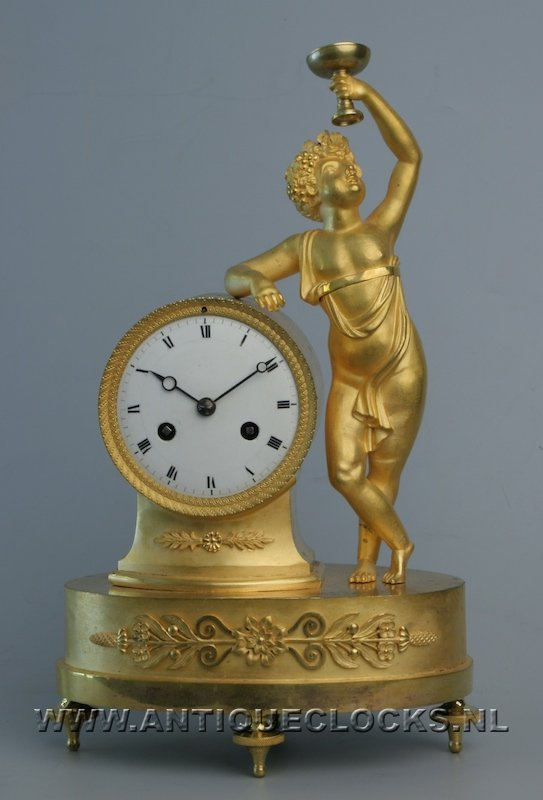 Small french 'Bachus'-pendule, ca. 1820