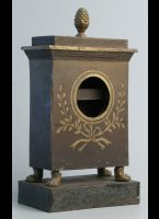 Antique painted iron watch-holder or porte-montre, ca 1800