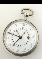 Decimal pocket watch, diameter 52mm. 1793-1800
