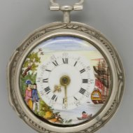 Silver repousee pair cased watch. 'Leydon, London', ca 1760