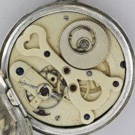 Heavy silver Duplex pocket watch, centre seconds, signed 'Dimier Frères & C Fleurier, Suisse'.