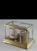 Brass barograph with 5 aneroid cylinders.
