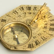 Antique sundial, signed 'Le Maire Fils a Paris'. ca. 1700