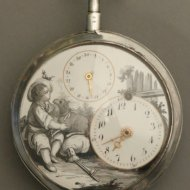 Grisaille verge fusee watch with date.
