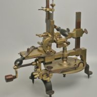 19th century brass and staal watchmaker wheelcutting engine.