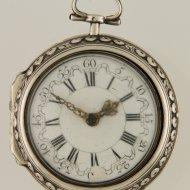 Antique dutch silver pair case pocket watch by Pieter van den Bergh, nr. 78, Rotterdam. ca 1740