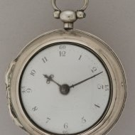 Antique silver pair case pocket watch by Jan Hankels (Henkels), Amsterdam, no. 334