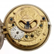 Antique dutch Silver pair cased repouse verge pocket watch by Jacob or Jacobus Viet, Rotterdam.