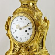 Firegilded french mantle clock by G.J. Champion.