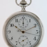 Antique silver Zenith chronograph pocket watch