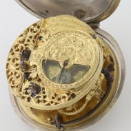Antique silver verge pocket watch by E. Baudouin, Rotterdam