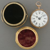 A fine, rare Repoussé verge dutch pocket watch in a triple case