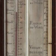 Antique dutch barometer, 'D. Sala, Leyden' (Leiden).