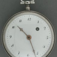 Silver verge-fusee french/swiss pocketwatch, early 1800