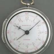Silver paircased verge watch with date, signed: 'Beefield, London'. 1787