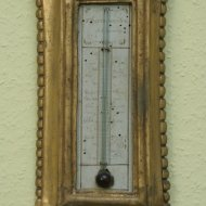 French wooden gilded provincial barometer. ca. 1800
