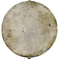 Tin plate of an 17th or 18th century astrolabe.