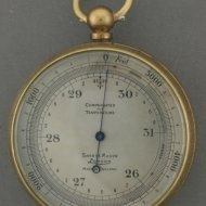 English altimeter, signed: 'Short & Mason, London'