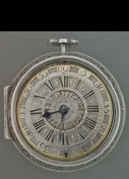 Antique pair case alarm verge watch, signed: 'van Ceulen le Jeune, Haghe', ca. 1700