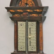 Early rare english 'Queen Anne' portable seaweed barometer, unsigned, circa 1700-1710.