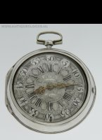 Antique pair cased pocket watch with silver Dutch dial, signed D.F. Kehlhof, Amsterdam'