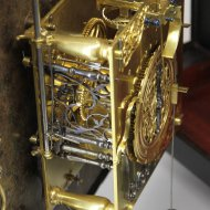 Antique Hague Clock by Pieter Visbagh (or Pieter Visbach) ca. 1680,