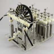 Wimshurst electric machine with 20 condensations (Leyden jars)