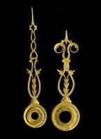 length of hands (hart to top): minute/hour: 52/41 mm. Set Nr 11, gilded. Price per set.