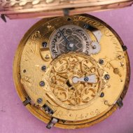3 Color Gold Quarter bell-striking verge watch. ca 1780 by  'Isaac Soret & Fils'